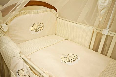 Luxury 10 Piece Baby Cot Bedding Set Cotbed Nursery Canopy Luxury Nursery Bedding Sets
