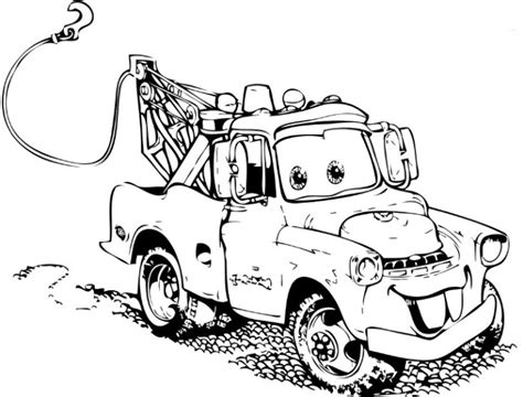 monster truck mater coloring page tow mater clip art 34