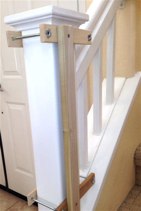 Baby Gate With Banister Kit by Custom Baby Gate Wall And Banister No Holes Installation