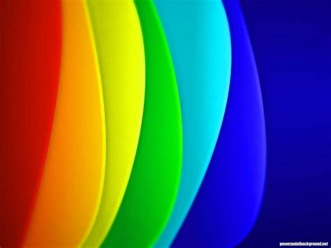 Colorful Powerpoint Background Powerpoint Rainbow Template