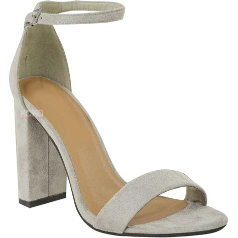 block high heels shoes womens block high heels ankle open toe