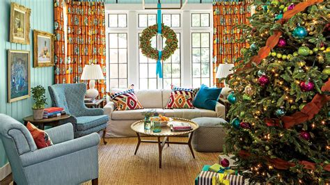 who to decorate a home cheerful christmas color schemes southern living