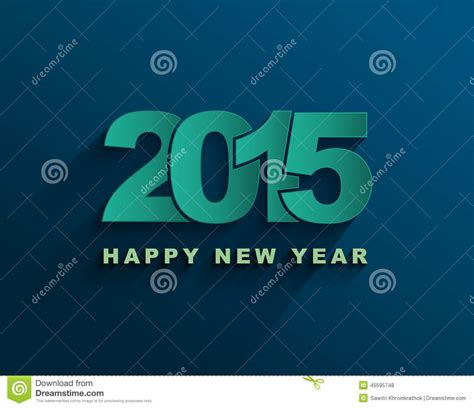 happy new year text vector vector happy new year 2015 text design stock vector