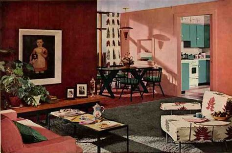 50s Living Room by 50s Living Room A Wonderful Modern Interior With The