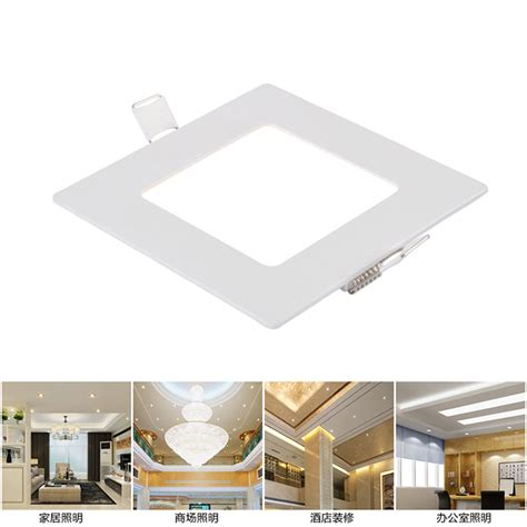 Square Recessed Ceiling Lights Square Recessed Ceiling L Led Panel Lights For Home Commercial 1b Ebay