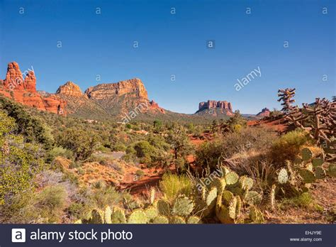 southwestern landscape two sisters castle rock courthouse butte bell stock photo royalty free