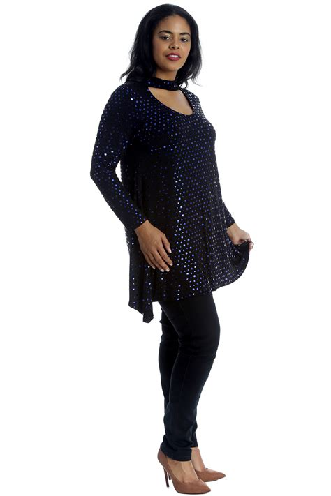 swing style new womens top plus size swing style polka dot foil