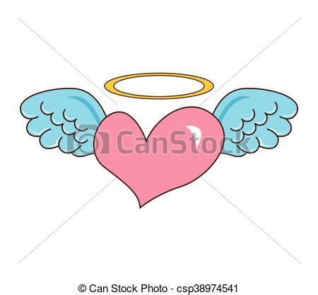 heart wing logo clip art vector clip art online royalty heart with wings cute icon vector illustration design eps