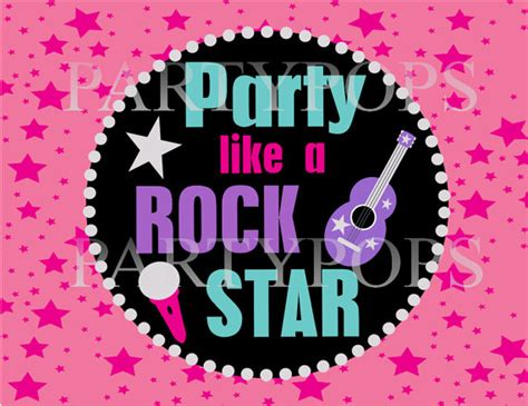 free printable rockstar party decorations items similar to rock star party sign rockstar printable