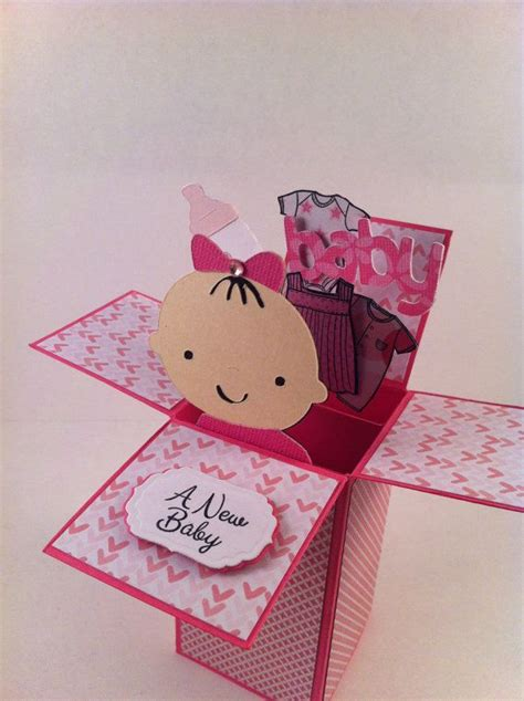 Baby Shower In A Box by Baby Card In A Box Pop Up Box Baby Shower Card Or
