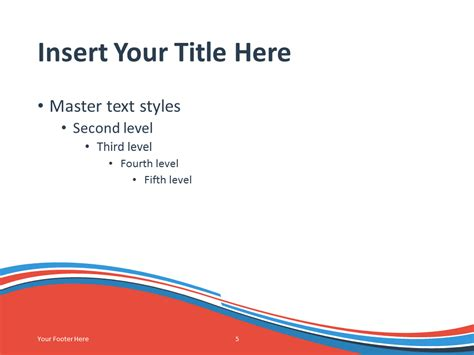 Blue Orange Wave Powerpoint Template Blue And Orange Powerpoint Template