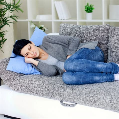laying couch many reproductive age women experience pelvic pain but don