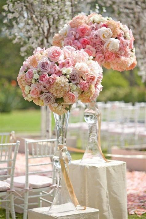 glass vase centerpieces 25 best ideas about trumpet vase centerpiece on