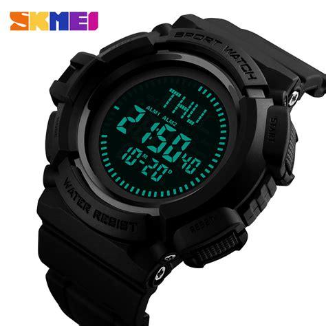skmei jam tangan kompas digital pria 1300 black jakartanotebook