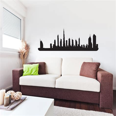 dubai city skyline vinyl wall decal for home decor