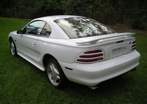 1995 white mustang white 1995 ford mustang gt coupe mustangattitude