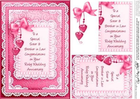 Ruby Wedding Anniversary Card Verses by A5 In Ruby Wedding Anniversary