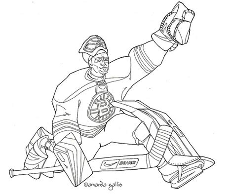 boston bruins hockey colouring pages