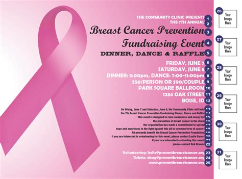 Pink Ribbon Flyer Ticketprinting Com Breast Cancer Raffle Ticket Template