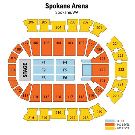 arena seating chart nelly march 10 tickets spokane spokane arena nelly