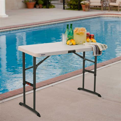 lifetime 4 foot table lifetime 80160 commercial adjustable folding