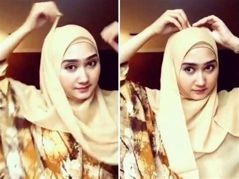 tutorial hijab segi empat  dian pelangi
