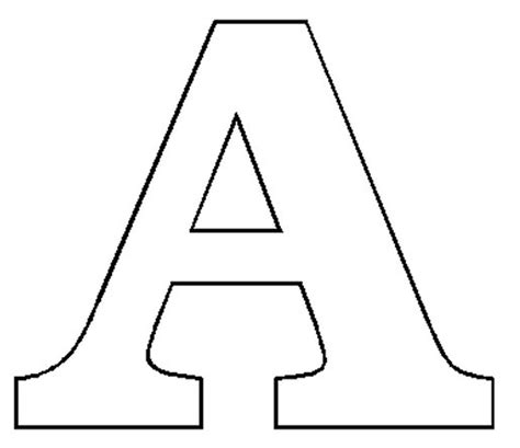 letter a template letter a formal letter template