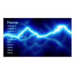 Lightning Business Card Lightning Bolt Business Cards Templates Zazzle