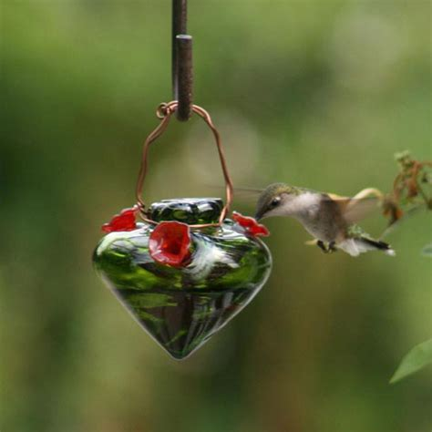 recycled material hummingbird feeder green by sagestudios