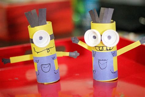 paper rolling craft toilet paper roll crafts minions
