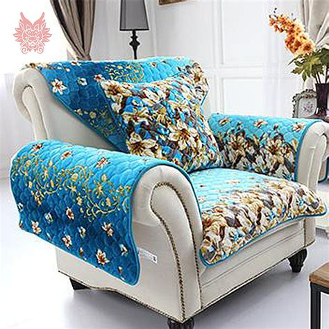 couch cover patterns aliexpress com buy free ship american style blue orange