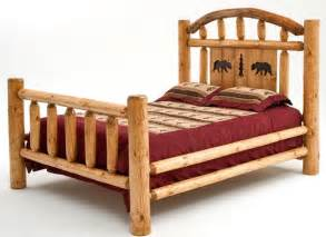 rustic log bed with woodland creek furniture