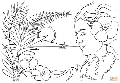hawaiian coloring pages beautiful hawaii coloring page free printable coloring pages