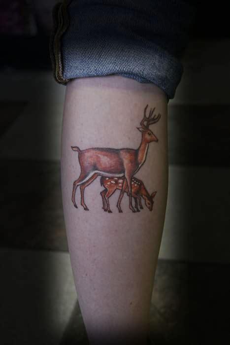 couple tattoo deer matching deer tattoos