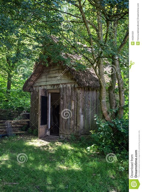 century medieval woodcutters shed  woodland setting