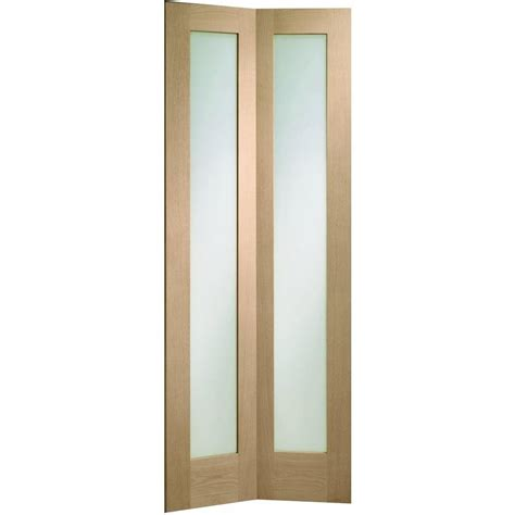 Bi Fold Doors Glass Panels Xl Joinery Pattern 10 Oak Un Finished Clear Glass Bi Fold Door Leader Doors