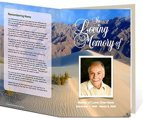 beautiful funeral program templates free downloads contemporary