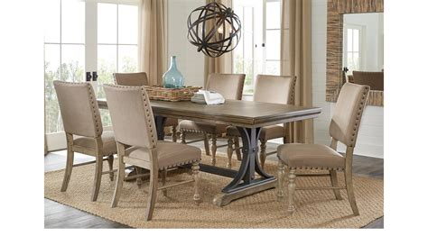 Rectangle Dining Room Sets Vista Driftwood Brownish Gray 5 Pc Rectangle Dining Set Rustic
