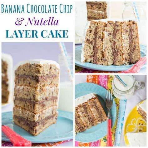 Gluten Free Banana Nutella Cake banana chocolate chip and nutella cake with gluten free