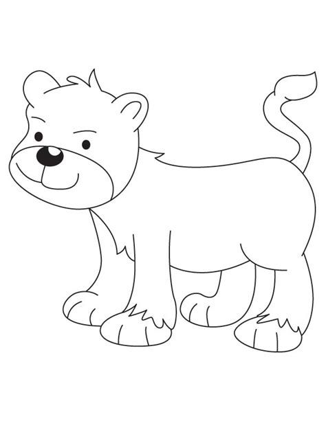 lion cub coloring pages sketch coloring page