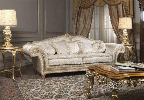 sofa rustikal classic sofa imperial with carved table vimercati