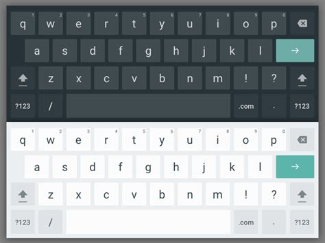 keyboard for android tablet android material design app templates free resources for