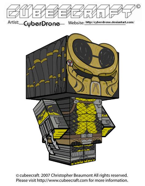 Predator Papercraft - cubeecraft wasp predator by cyberdrone on deviantart
