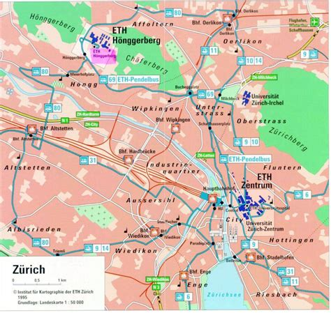 Printable Map Zurich | large zurich maps for free download and print high