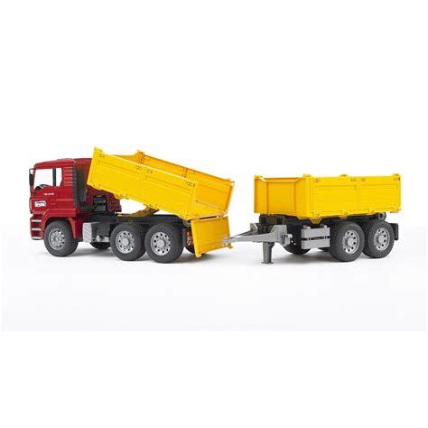bruder toys bruder construction truck with trailer bruder toys