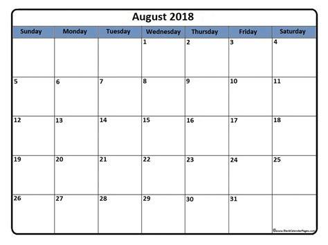 August 2018 Calendar 56 Calendar Templates Of 2018 Calendars Printable Calendar August 2018 Calendar Template