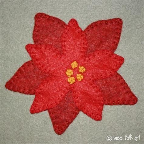 pattern for felt poinsettia poinsettia sewing quilt pinterest