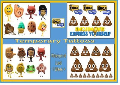 emoji film descriptions emoji movie film inspired body nail temporary tattoos
