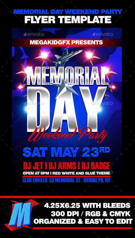 Memorial Day Club Party Flyer Template 187 Tinkytyler Org Stock Photos Graphics Memorial Flyer Template