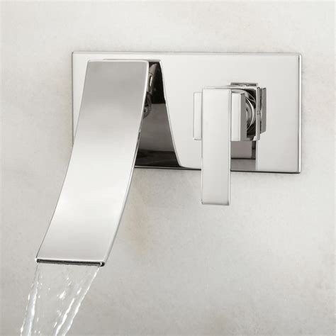 reston wallmount waterfall bathroom faucet bathroom